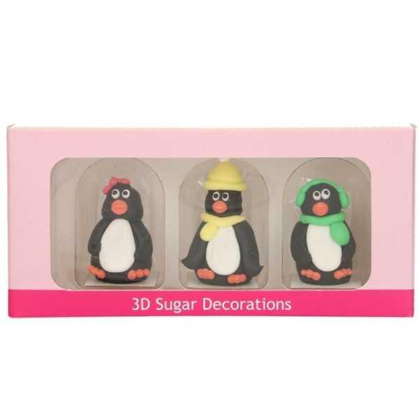 Zuckerfigur 3D Pinguin