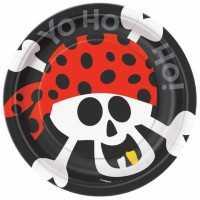 Teller klein Ahoi Piraten, 8 Stk.