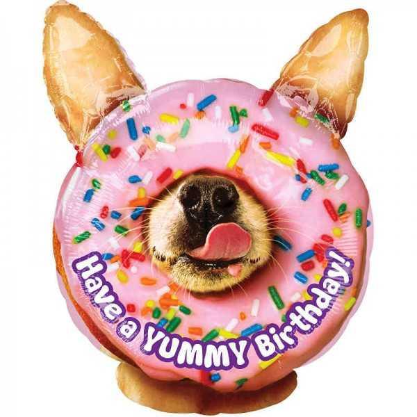 Folienballon Yummy Birthday