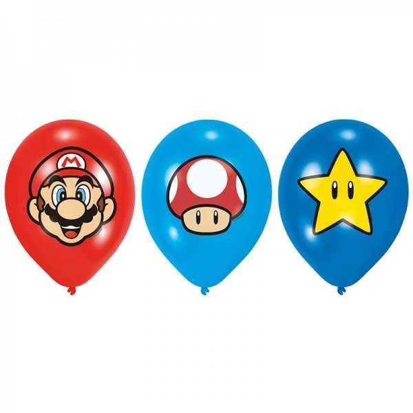 Luftballons Super Mario Bros., 6 Stk.