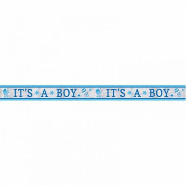 """Banner """"Hurra, ein Junge!"""", 1 Stk"""