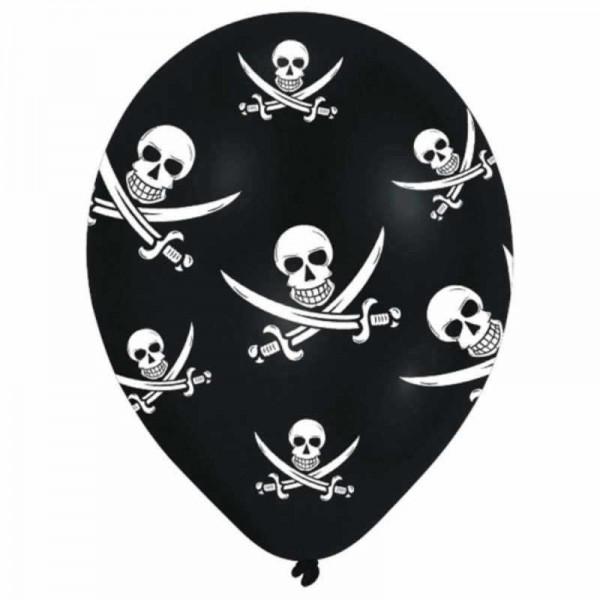Luftballons Piraten, 6 Stk.