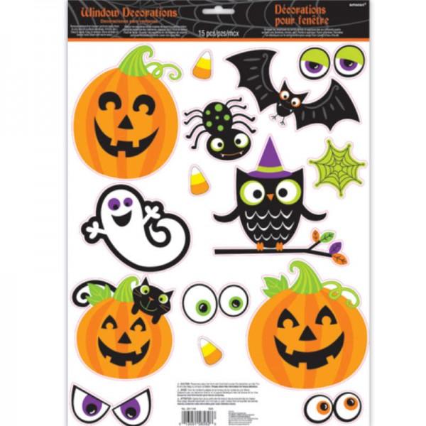 Fenstersticker-Set Halloween, 15 tlg.