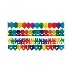 Girlande regenbogenfarben, 1 Stk.