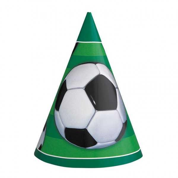 Partyhüte Fussball, 8 Stk