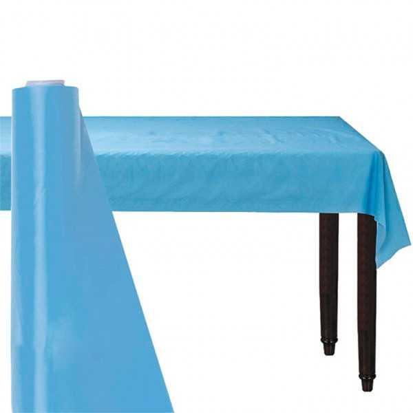Kunststoff-Tischrolle hellblau, 30 m