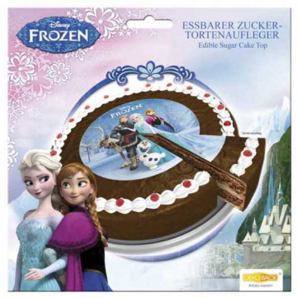 Tortenaufleger Frozen / Die Eiskönigin Elsa & Anna, 1 Stk