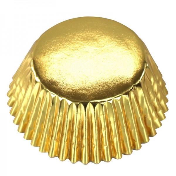 Muffinförmchen Metallic Gold, 30 Stk.