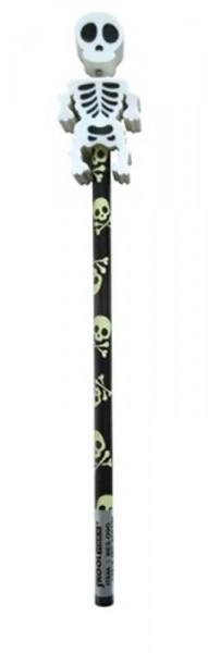 Bleistift mit Radierer Skelett