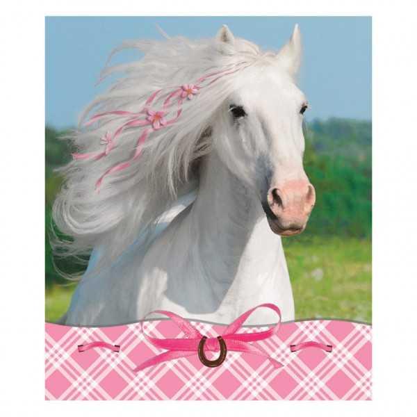 Notizblock Weisses Pferd, 4 Stk