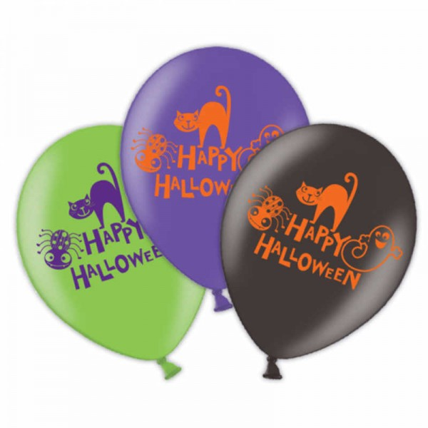 Luftballons Happy Halloween, 6 Stk.