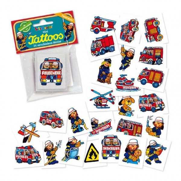 Mini-Tattoos Feuerwehr