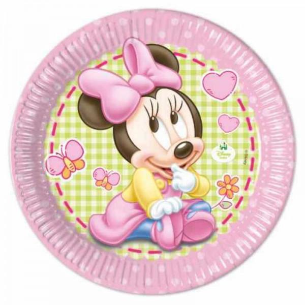 Teller Baby Minnie, 8 Stk.