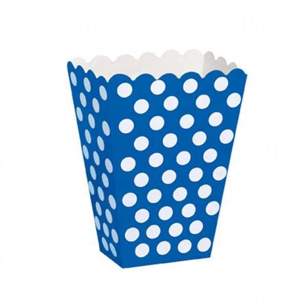 Box blau mit weissen Punkten, 8 Stk.