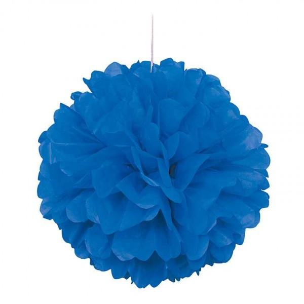 Pompon blau 40cm, 1 Stk