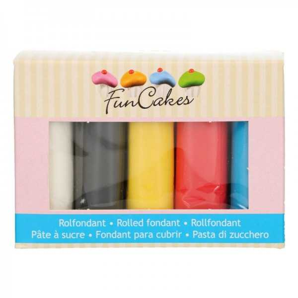 Funcakes Rollfondant Multipack Primärfarben