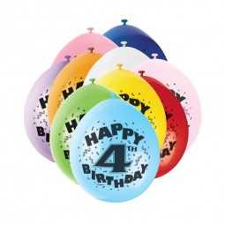 Luftballons 4. Geburtstag, 10 Stk.