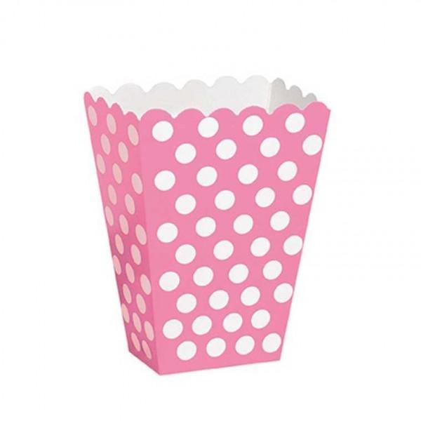 Box rosa mit weissen Punkten, 8 Stk.