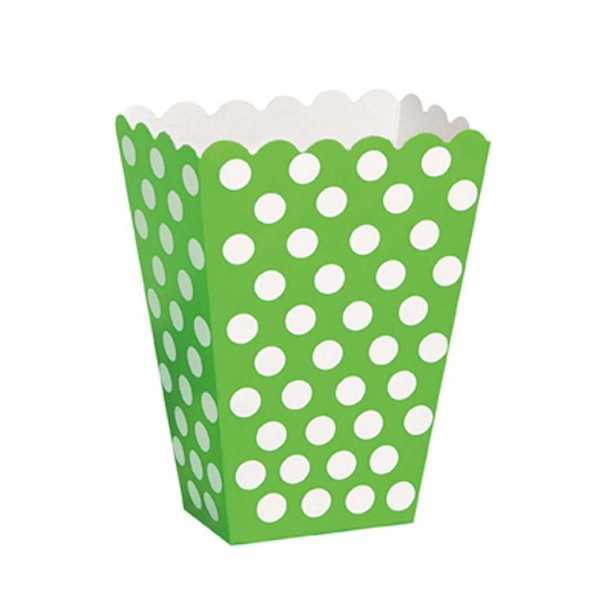 Box grün mit weissen Punkten, 8 Stk