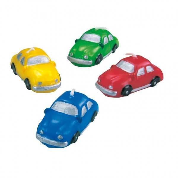 Minikerzen Auto, 4 Stk