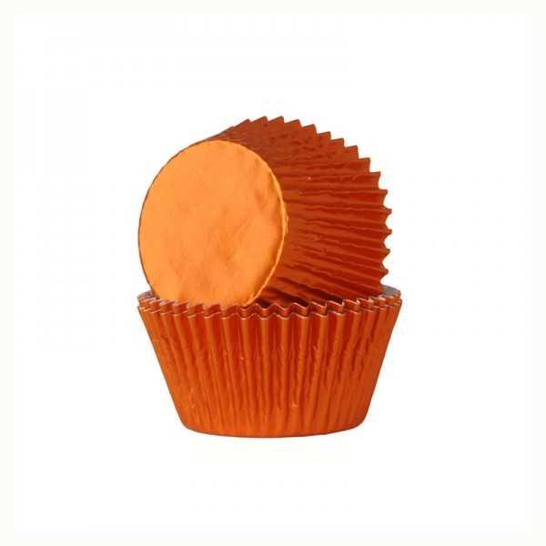 Muffinförmchen metallic-orange, 24 Stk.