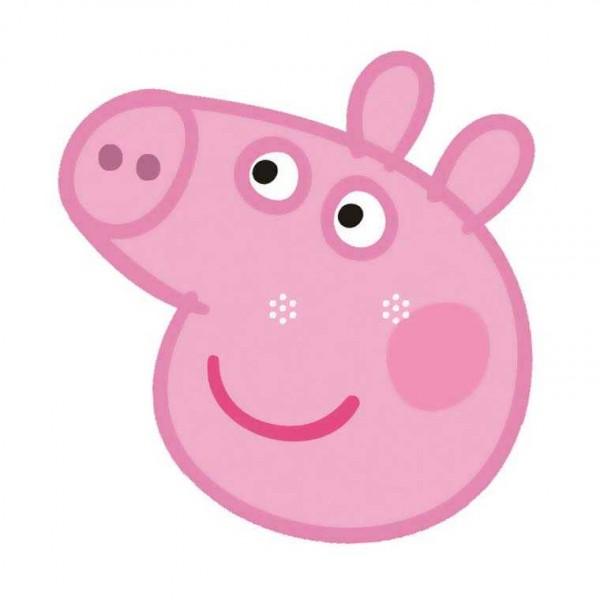 Masken Peppa Pig, 6 Stk