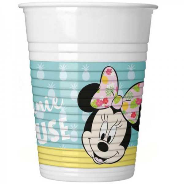 Becher Minnie Maus Tropical, 8 Stk