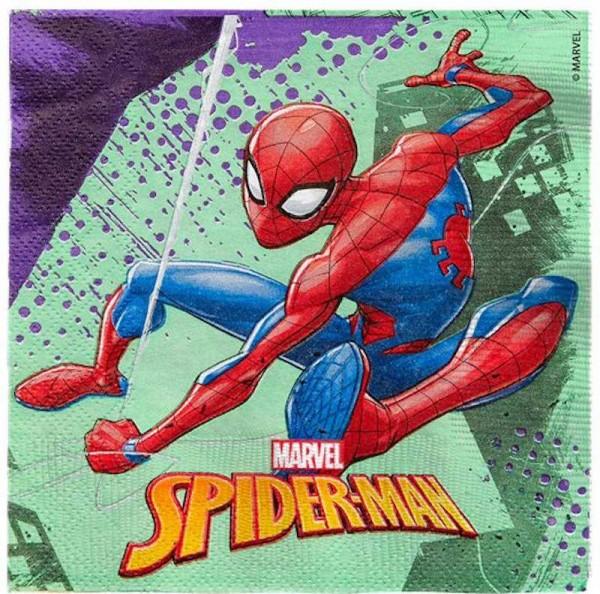 Servietten Spiderman, 20 Stk.