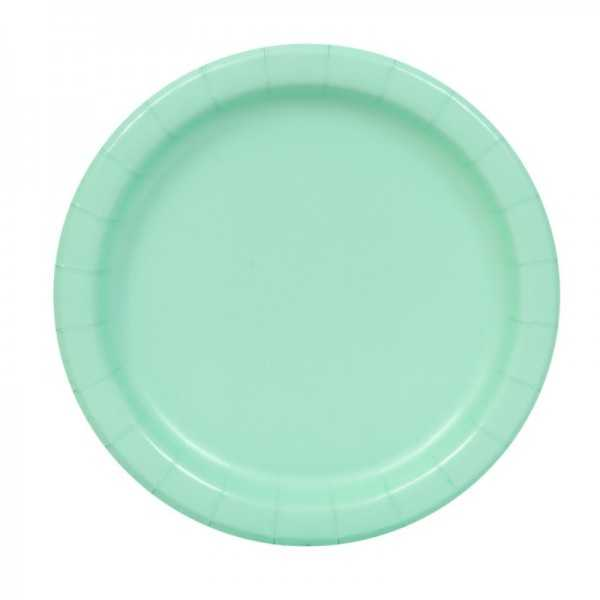 Teller Pastellgrün