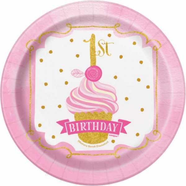 Teller klein 1. Geburtstag Prinzessin