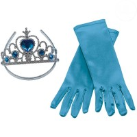 Prinzessin-Set blau, 2 tlg.