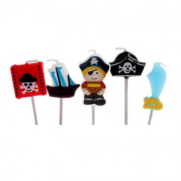Minikerzen Piraten, 5 Stk
