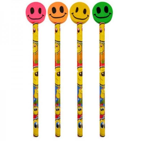 Bleistift mit Radierer Smiley, 1 Stk.