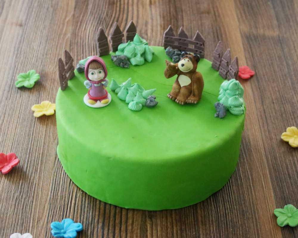Motivtorte Mascha Und Der Bar Rezepte Geburtstagstorten