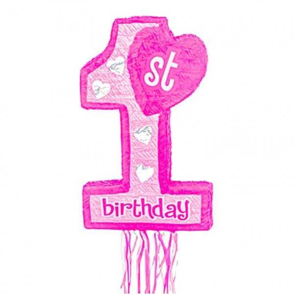 Zieh-Piñata 1. Geburtstag Mädchen