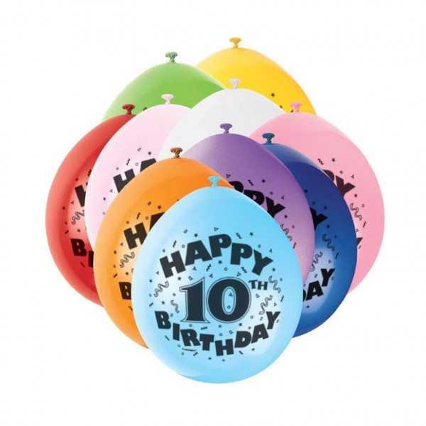 Luftballon 10 Geburtstag, 10 Stk