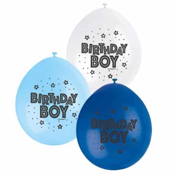 Luftballons Birthday Boy 10 Stk