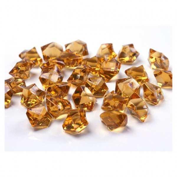 Dekokristall Acryl goldgelb, 50 Stk