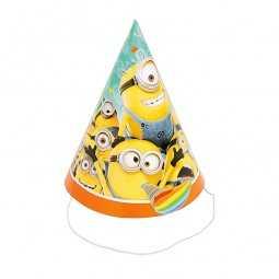 Partyhüte Minions, 8 Stk.