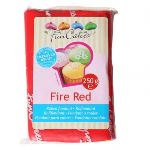 Funcakes Rollfondant Rot, 250 g