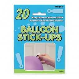 Ballonbefestigungsaufkleber, 20 Stk.
