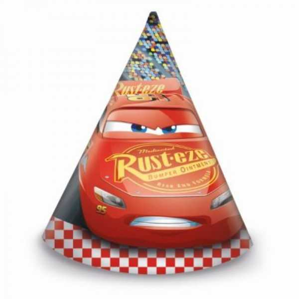 Partyhüte Cars 3, 6 Stk