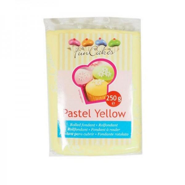 Funcakes Rollfondant Pastellgelb, 250 g