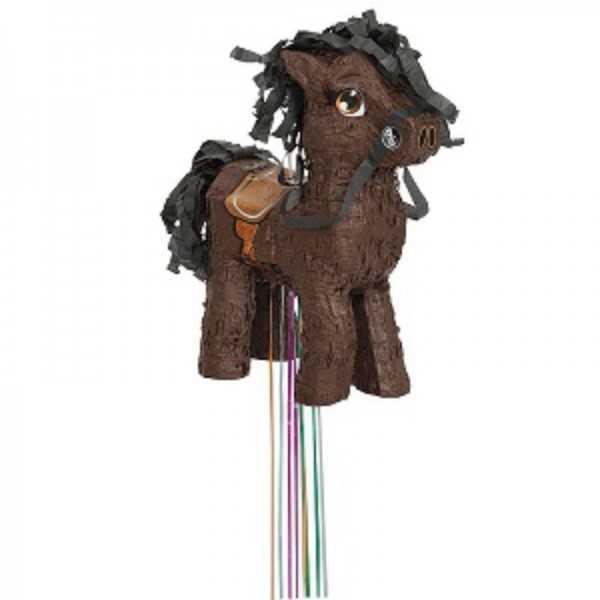 Zieh-Piñata braunes Pferd