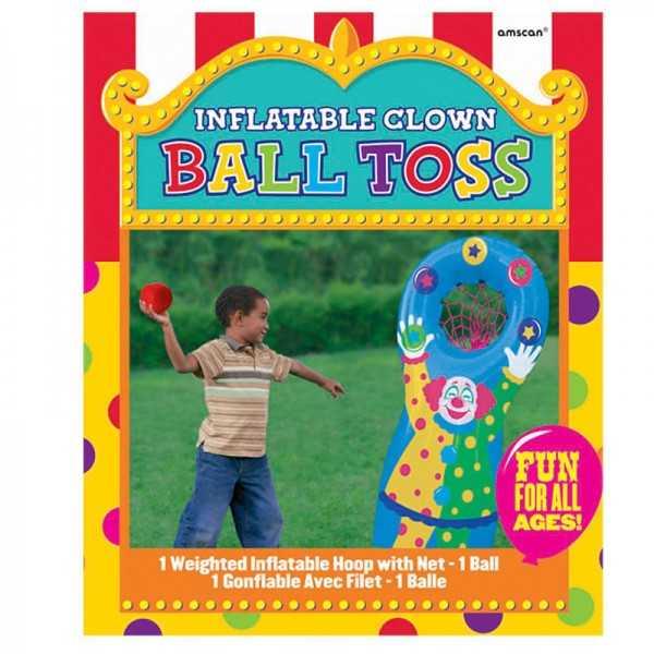 Partyspiel Clown-Ballwerfen