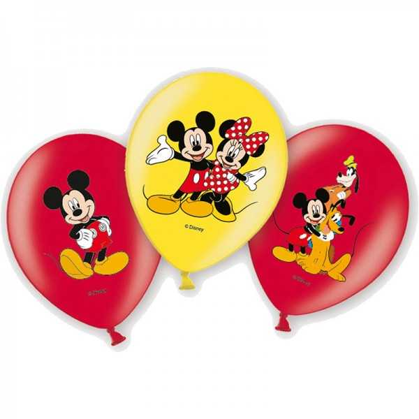 Luftballons Micky Maus, 6 Stk.