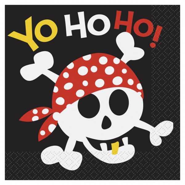 Servietten Ahoi Piraten, 16 Stk