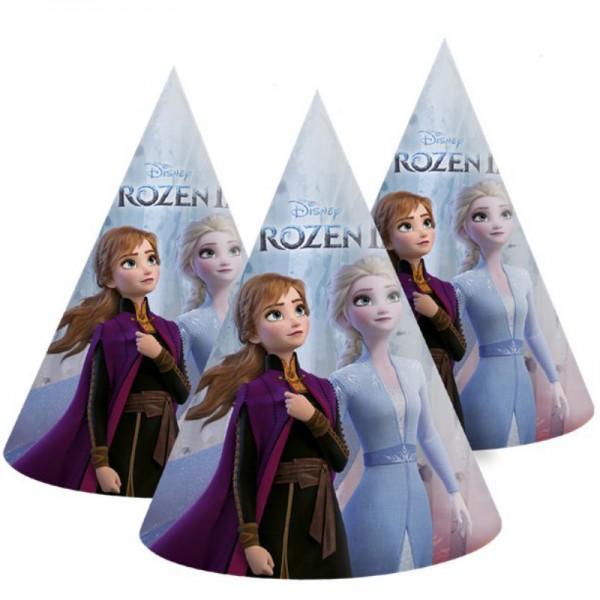 Partyhüte Frozen 2 / Die Eiskönigin, 6 Stk.