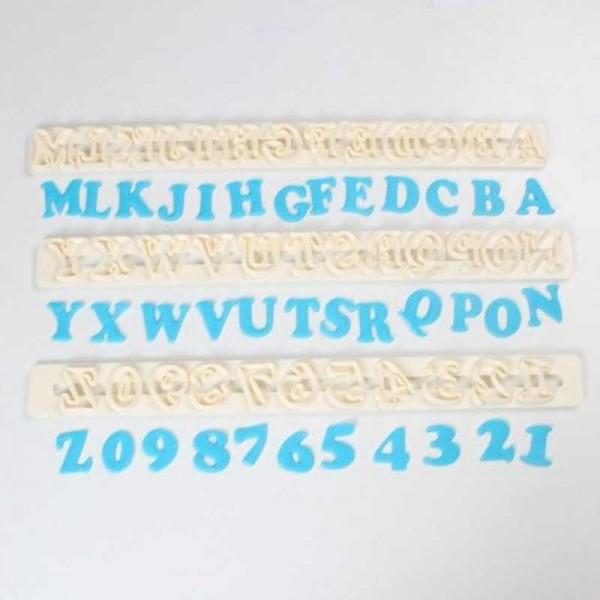 Fondant-Buchstabenschablone, 1 Stk.