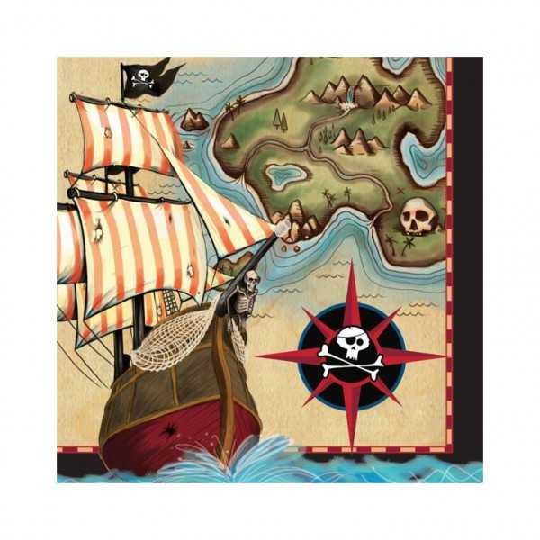 Servietten Piratenschatz